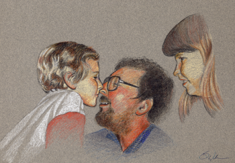 Nose to Nose (Colored Pencil) - available