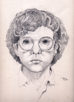 Shelley in 1992 - self portrait