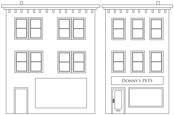 Donny's Pet Shop - front and side